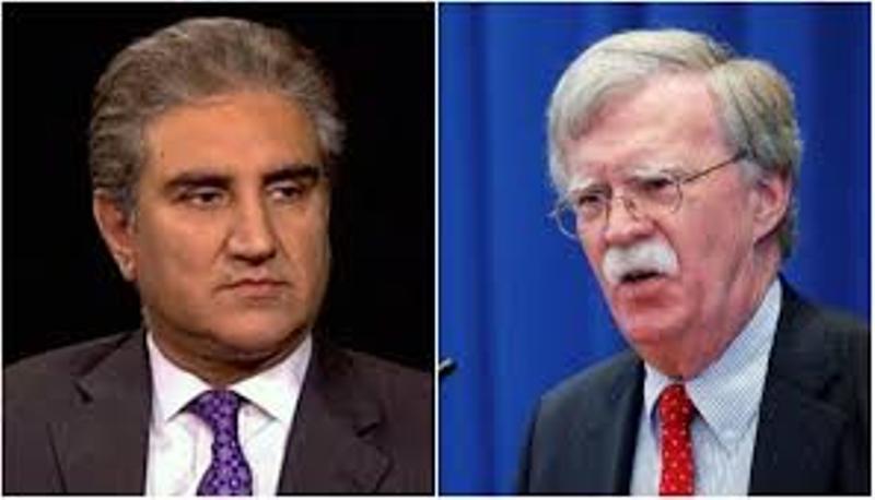 وزیر خارجه پاکستان و جان بولتون درباره هند گفت و گو کردند