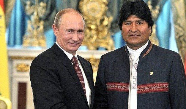 دیدار رهبران روسیه و بولیوی درباره تقویت همکاری راهبردی تا مخالفت با اعمال تحریم های یکجانبه