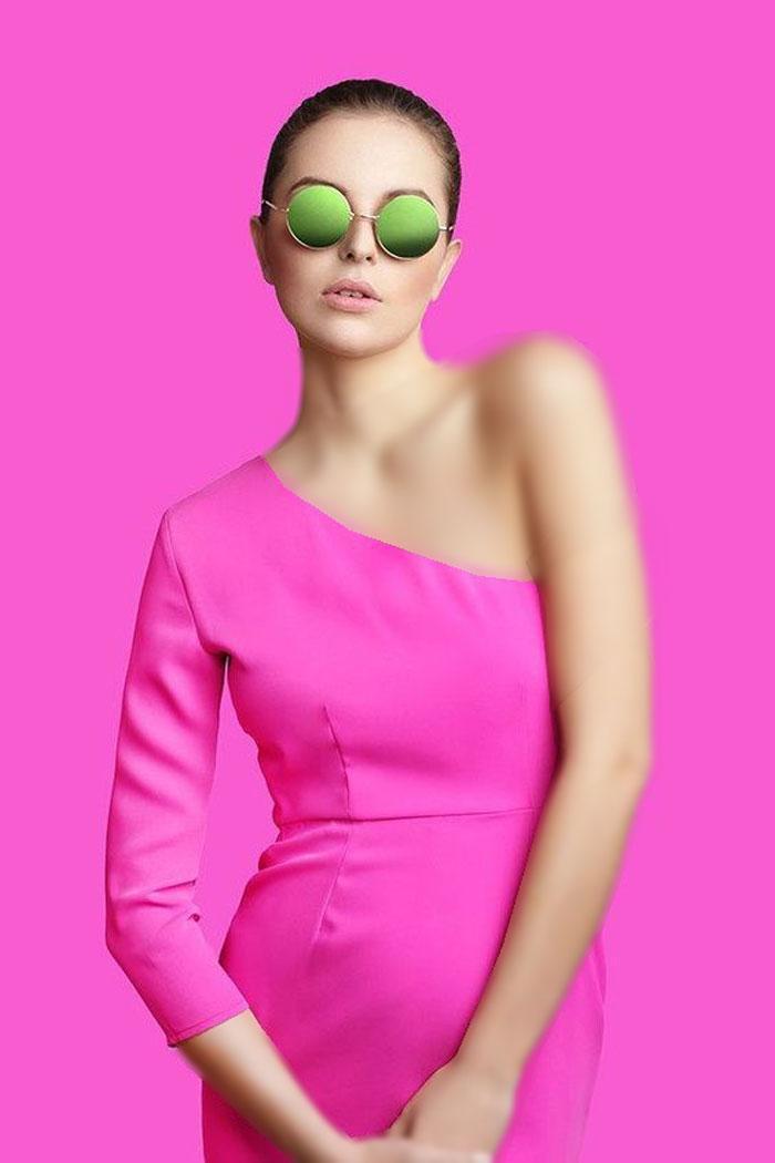 30 مدل لباس مجلسی صورتی