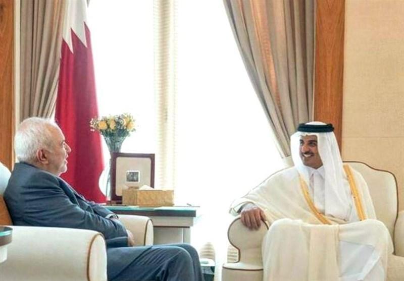دیدار ظریف با امیر قطر در دوحه