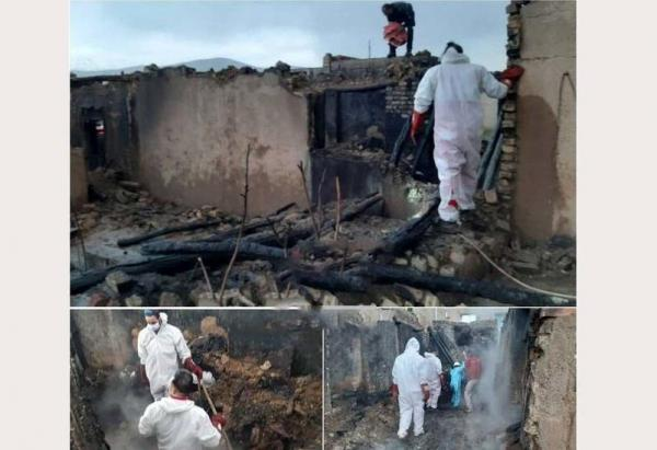 2 کشته در پی آتش سوزی در سنقر و کلیایی